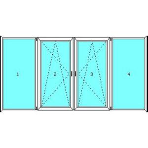 Четырехстворчатые конструкции